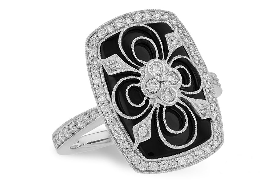Allison Kaufman - Allison_Kaufman_Onyx_Ring.jpg - brand name designer jewelry in Modesto, California