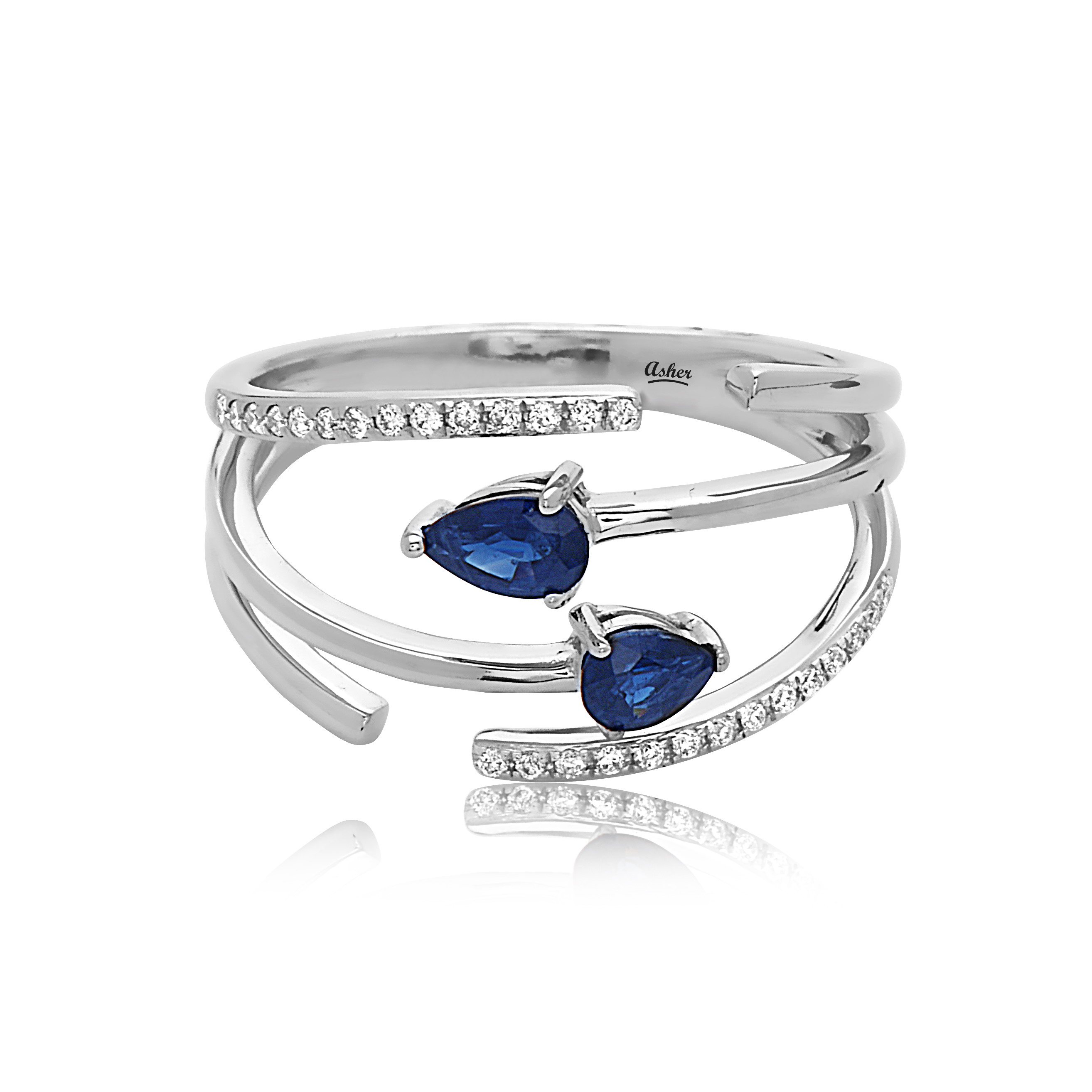 Asher - Asher_Blue_Rg.jpg - brand name designer jewelry in Modesto, California